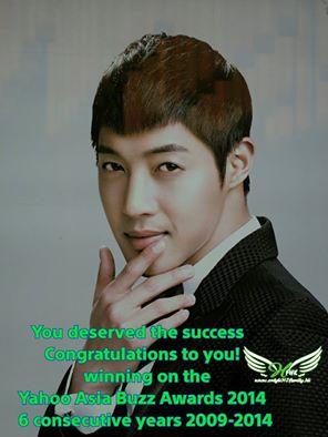 Kim Hyun Joong Yahoo Buzz Winner For Top Asian Male Korean Artist 2014