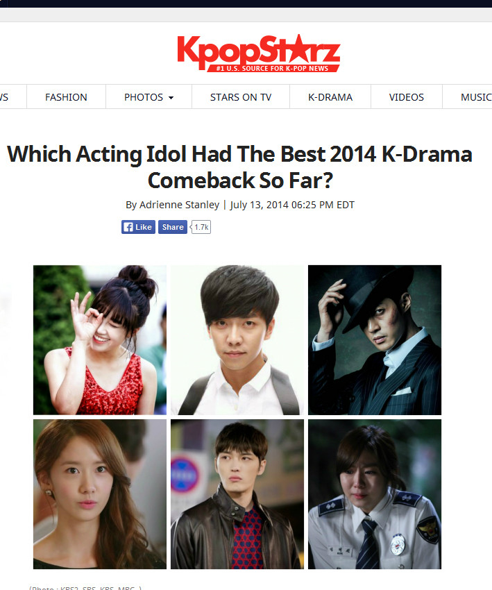 Vote - Which Acting Idol Had The Best 2014 K-Drama Comeback So Far