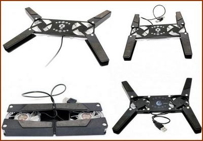 میز خنک کننده لپ تاپ سه فن