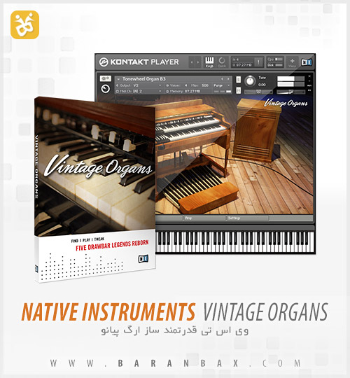 دانلود وی اس تی ارگ Native Instruments Vintage Organs