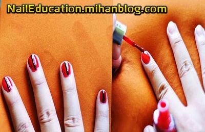 آموزش ساده طراحی ناخن روی طرح کفشدوزک