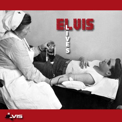 الویس در حال اهداء خون