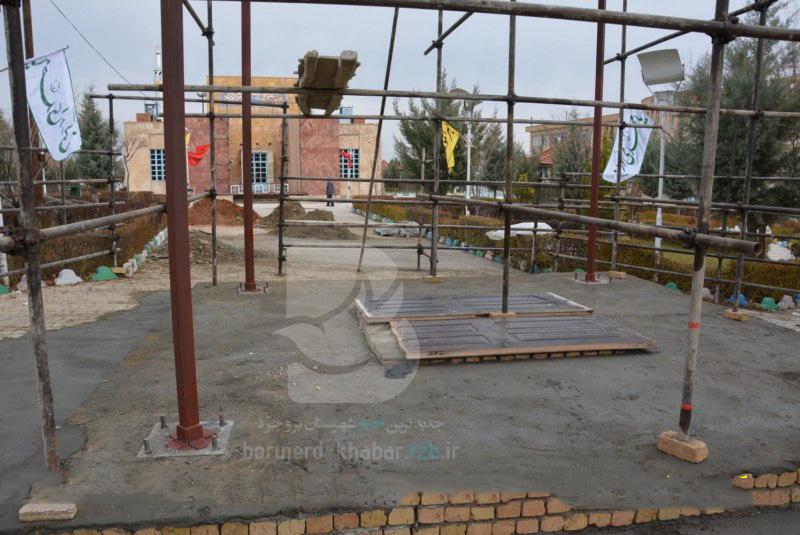آماده سازی محل آرامگاه دو شهید گمنام  جنگ در دانشگاه آزاد