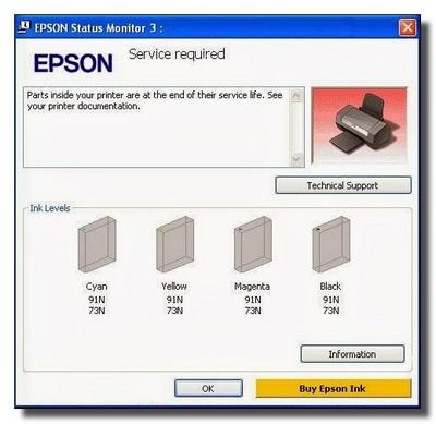 آموزش ریست پرینتر Epson L200 , L201