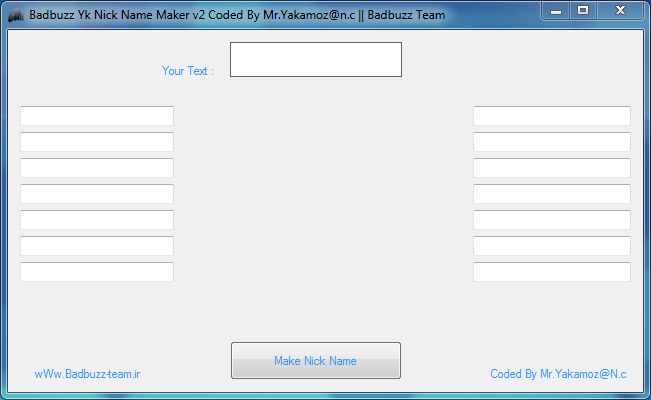 Badbuzz Yk Nick Name Maker v2 Badbuzz_Nick