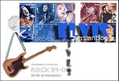 تمبرهای الویس پریسلی منتشر شده در سوئد