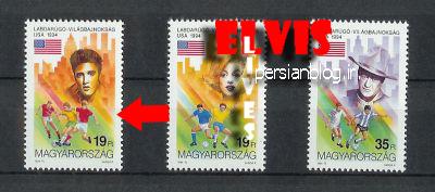 تمبرهای الویس پریسلی منتشر شده درمجارستان