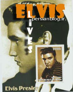 تمبرهای الویس پریسلی منتشر شده در جمهوری بنین
