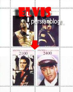 تمبرهای الویس پریسلی منتشر شده در کشور قفقاز