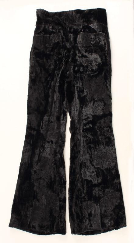 Elvis Presley Worn I.C. Costume Crushed Black Velvet Pants Circa 1970