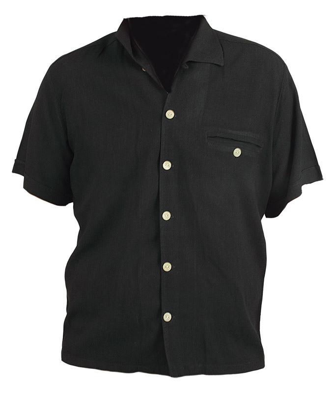 Elvis Presley Worn Black Short Sleeved Shirt
