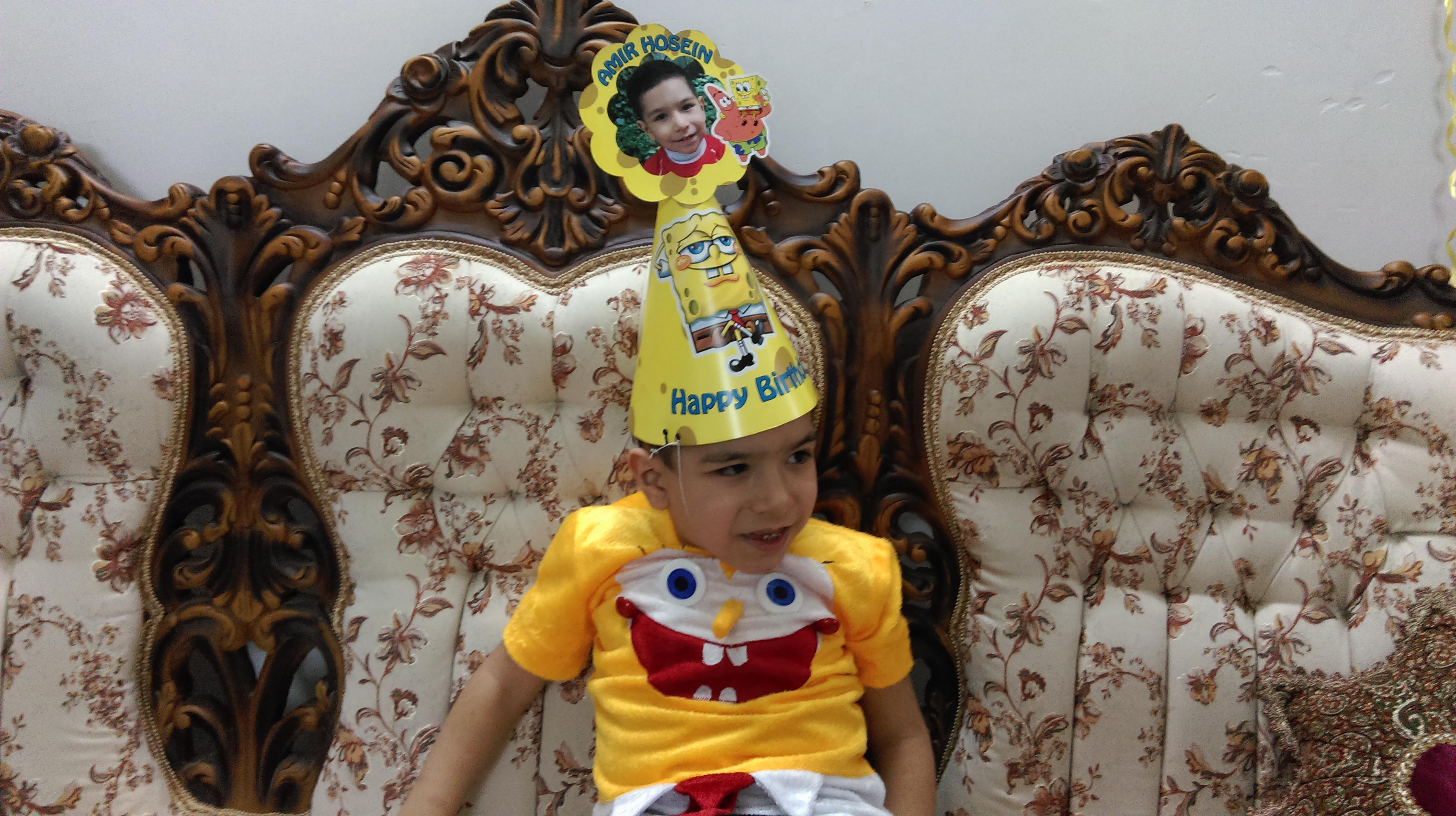 تولد 5 سالگی امیرحسین جان با تم باب اسفنجی
