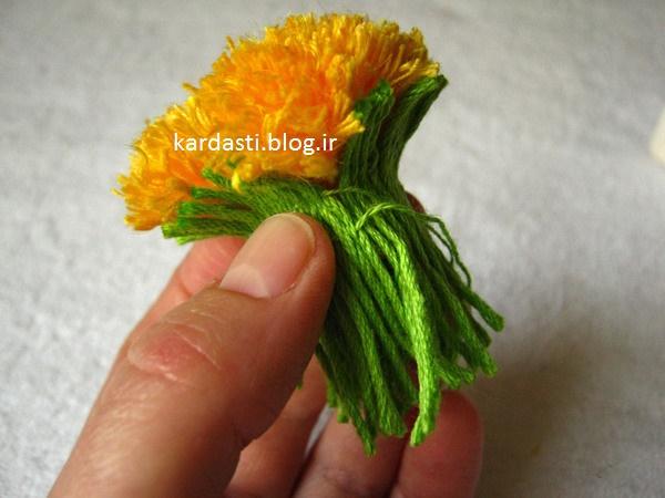گل زیبا با کاموا