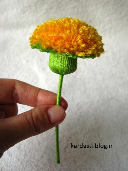 آموزش گل کاموایی http://kardasti.blog.ir/