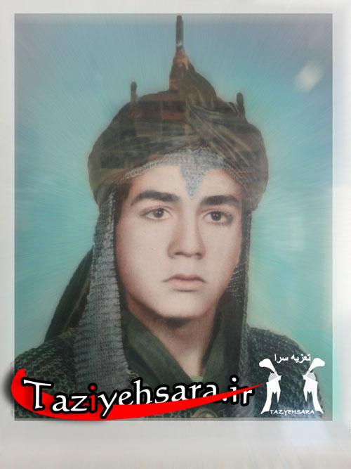 نوجوانی حسین طاهری در تعزیه حضرت علی اکبر (ع)