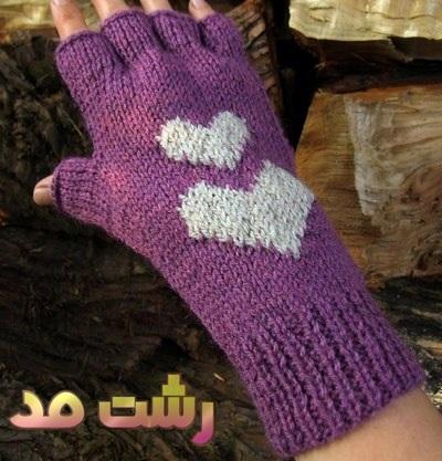 مدل دستکش بافتنی بلند بدون انگشت دار زنانه دخترانه 2015