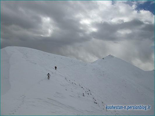 مسیر قله پرسون از برگ جهان - زمستانه