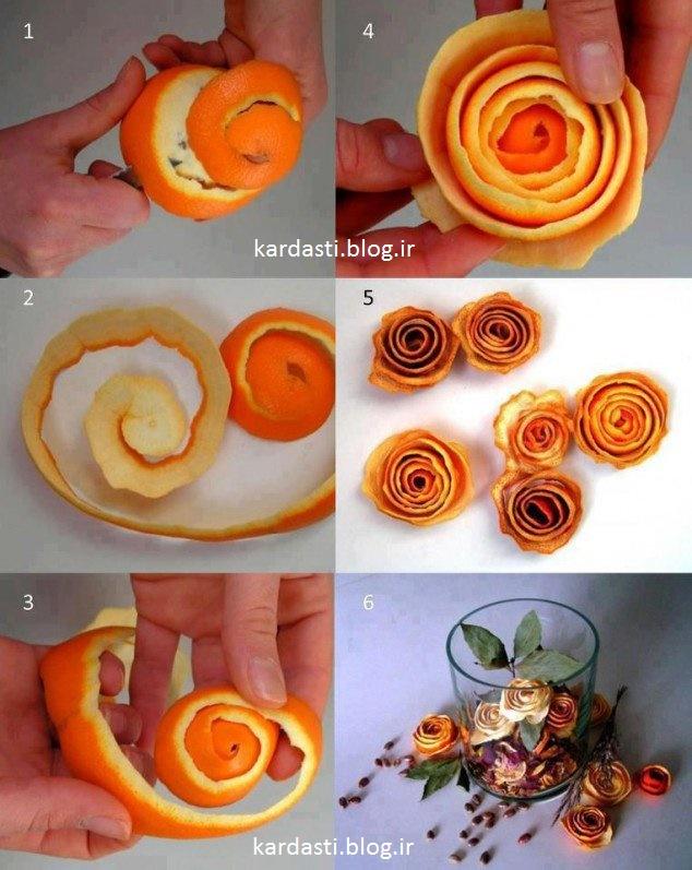درست کردن گل با پوست پرتغال http://kardasti.blog.ir/