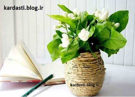 آموزش درست کردن گلدان زیبا با بطری شیشه http://kardasti.blog.ir/