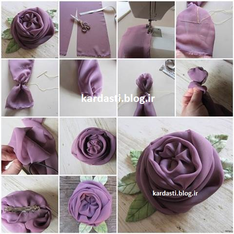 آموزش درست کردن گل سر زیبا و قشنگ http://kardasti.blog.ir/