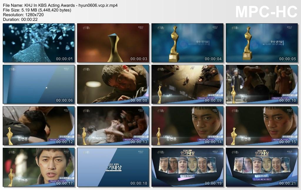 Video_Kim Hyun Joong - KBS Acting Awards