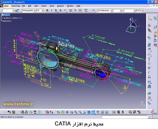 محیط نرم افزار CATIA