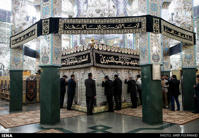 لاریجانی حرم حضرت زینب (س)