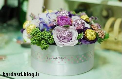 سبد گل ولنتاین بسیار شیک و زیبا