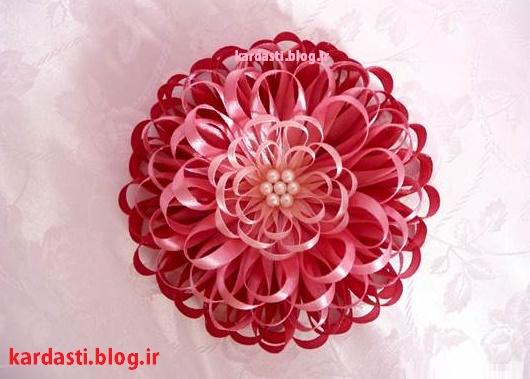 گل تزیینی زیبا با روبان