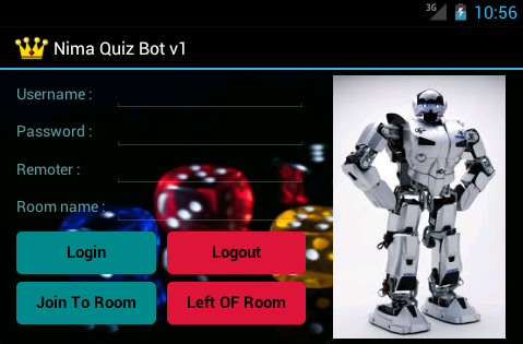 Nimbuzz Quiz Bot for android Main