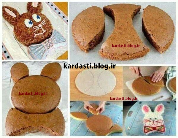 طرز درست ماکت کیک تولد طرز تزیین کیک تولد کودک :: آموزش کاردستی های تزئینی و ...