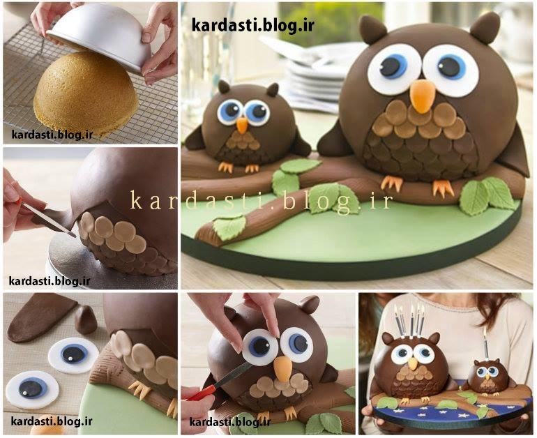 آموزش پخت و درست کردن کیک به شکل جغد بسیار زیبا