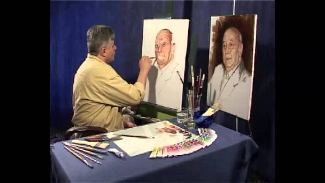 دانلود کلیپ نقاشی چهره (رنگ و روغن) توسط عزیز گل کار