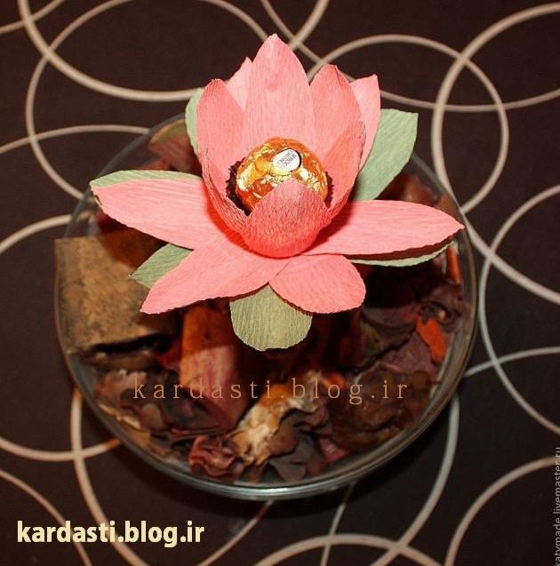 درست کردن گل نیلوفر عاشقانه تزئینی و دکوری زیبا