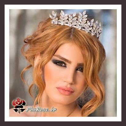 مدل عروس با موی عسلی رنگ