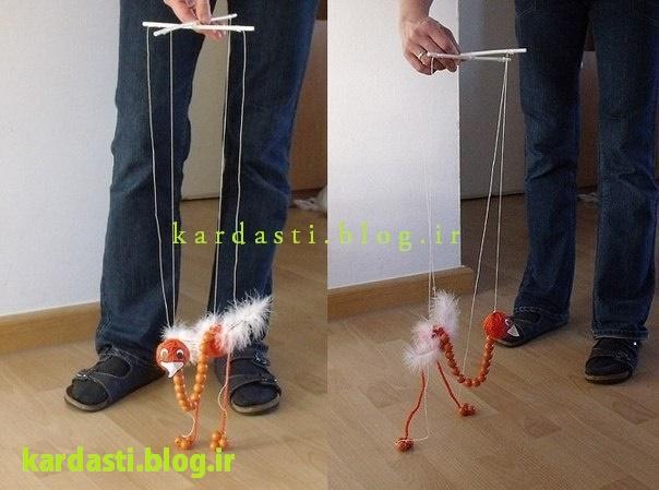 آموزش درست کردن عروسک خیمه شب بازی شتر مرغ بسیار جالب
