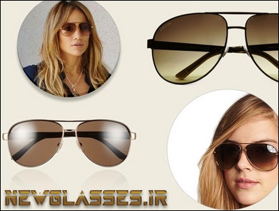 خرید مدل عینک آفتابی خلبانی کلاسیک GUCCI مشکی قهوه ای