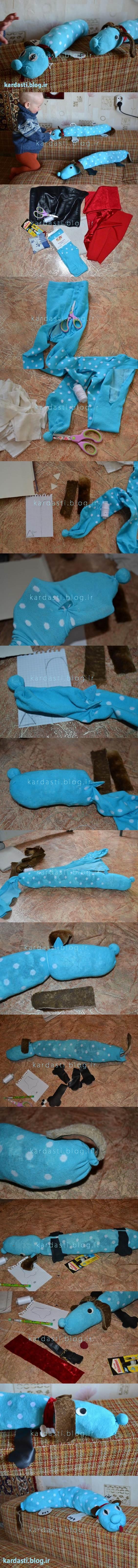 آموزش درست کردن سگ با جوراب