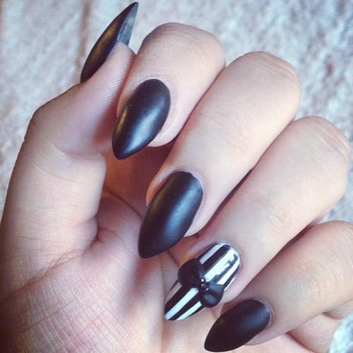 All Black Acrylic Nails Tumblr | www.pixshark.com - Images ...
