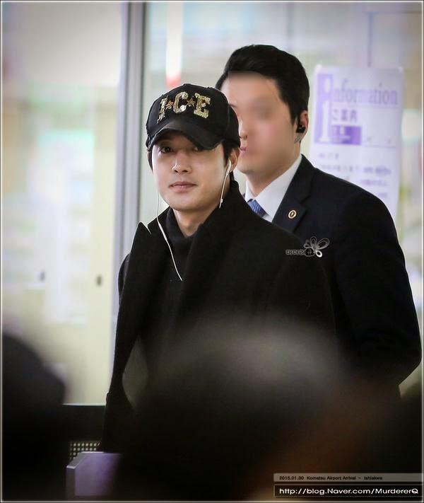 [MurdererQ Photo] Kim Hyun Joong - Komatsu Airport Arrival (Komatsu, Ishikawa) [15.01.30]