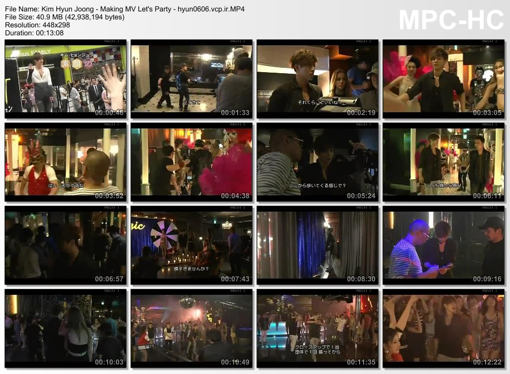 Kim Hyun Joong - Making MV Lets Party