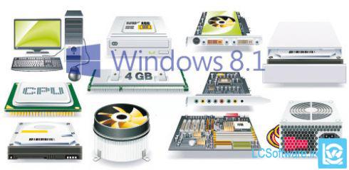 سخت افزار مورد نیاز برای نصب  ویندوز 8 و 8.1
