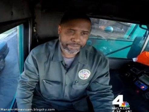 کوین شرمن، پدر ریچارد شرمن که برای امرار معاش رانندگی ماشین حمل زباله رو انجام میده