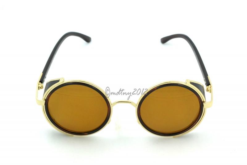 عینک پرادا مدل گرد شیشه آتشی