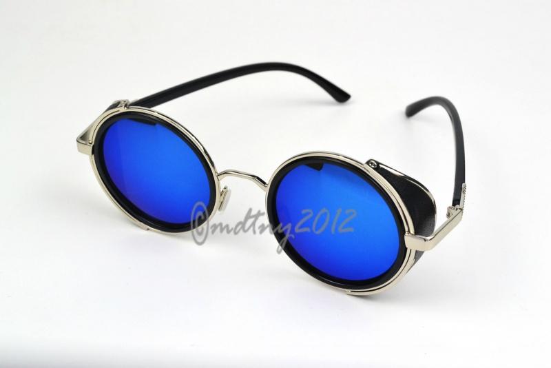 عینک استاندارد prada شیشه آبی گرد