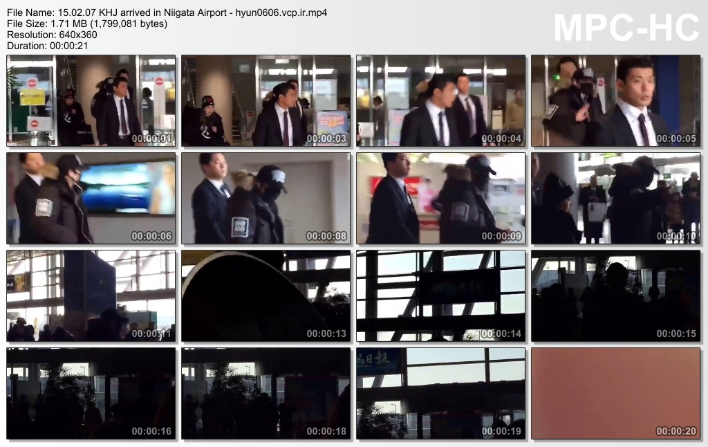 [Fancam+Fanpic] Kim Hyun Joong - Arrived at Niigata Airport [15.02.07]