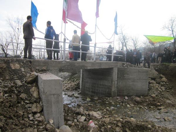 ماسال نیوز افتتاح پل روستای در روستای نیلاش شاندرمن