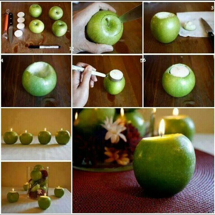 آموزش ساخت سیب شمعی
