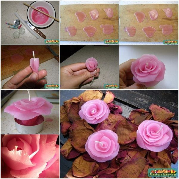 آموزش شمع سازی به شکل گل رز