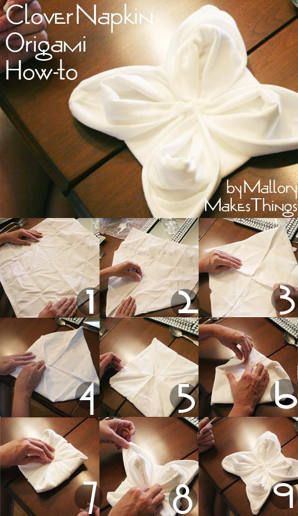 آموزش گل رز کوچک برای تزیین دستمال سفره